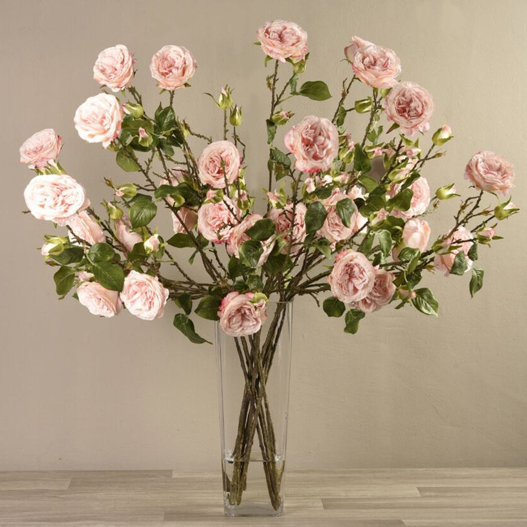 Bloomr Flowers Large Rose Arrangement in Glass Vase artificial flowers artificial trees artificial plants faux florals