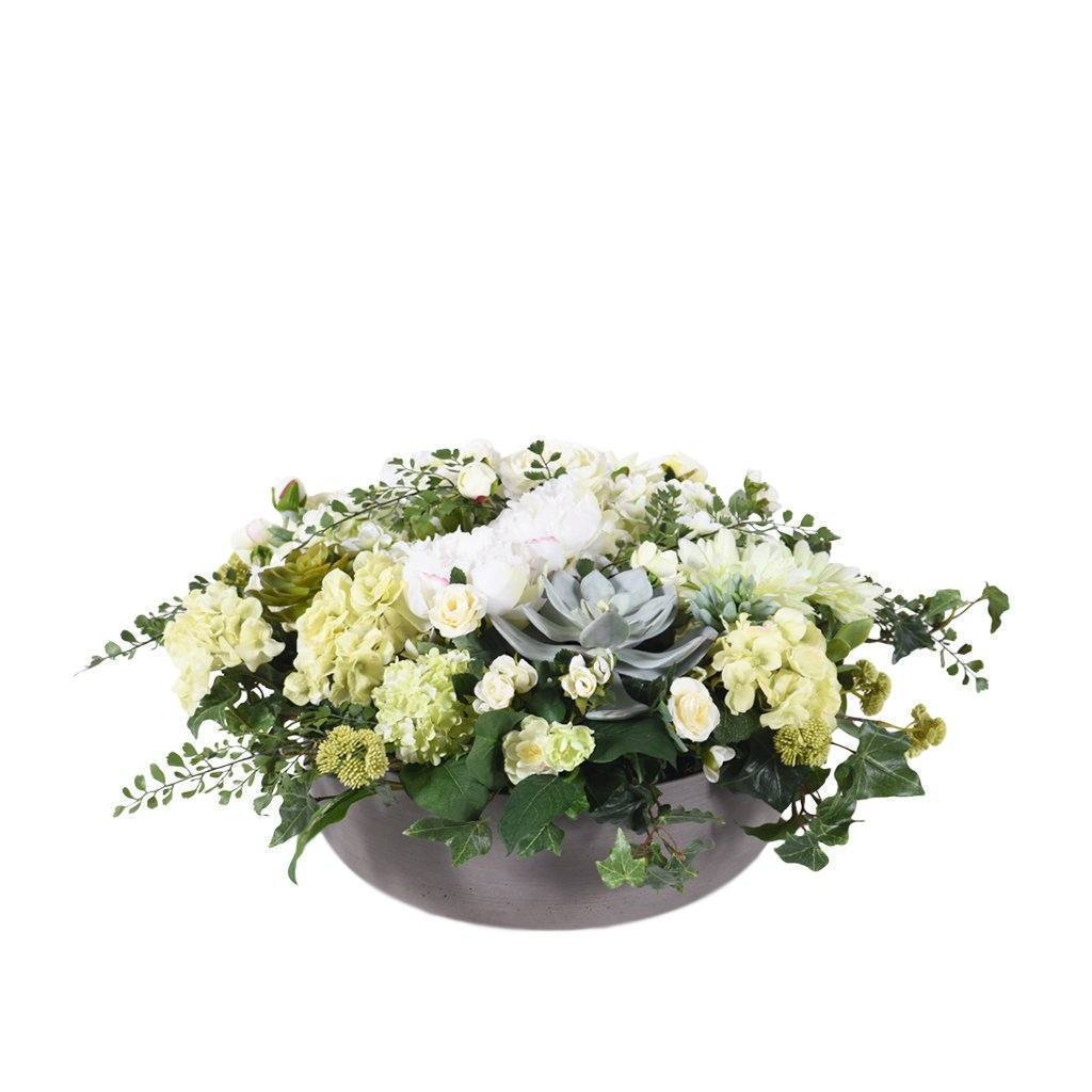 Bloomr Flowers Large / Sandstone Bowl Modern Simplicity Arrangement artificial flowers artificial trees artificial plants faux florals