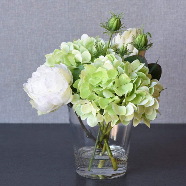 Bloomr Flowers light_green Hydrangea & Peony Arrangement artificial flowers artificial trees artificial plants faux florals