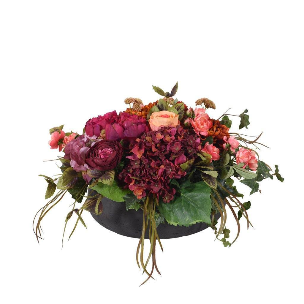 Bloomr Flowers Medium / Black Concrete Strong Classical Arrangement artificial flowers artificial trees artificial plants faux florals