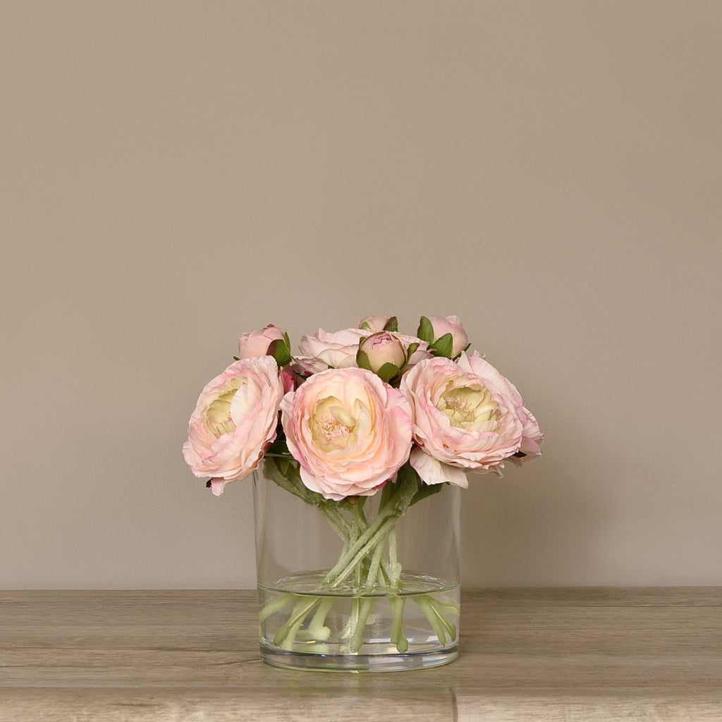 Bloomr Flowers Medium Ranunculus Arrangement in Glass Vase artificial flowers artificial trees artificial plants faux florals