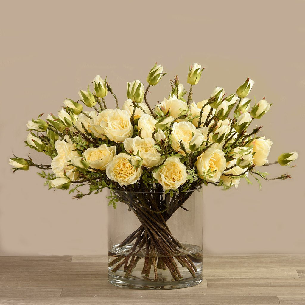 Bloomr Flowers Medium Rose Arrangement in Glass Vase artificial flowers artificial trees artificial plants faux florals