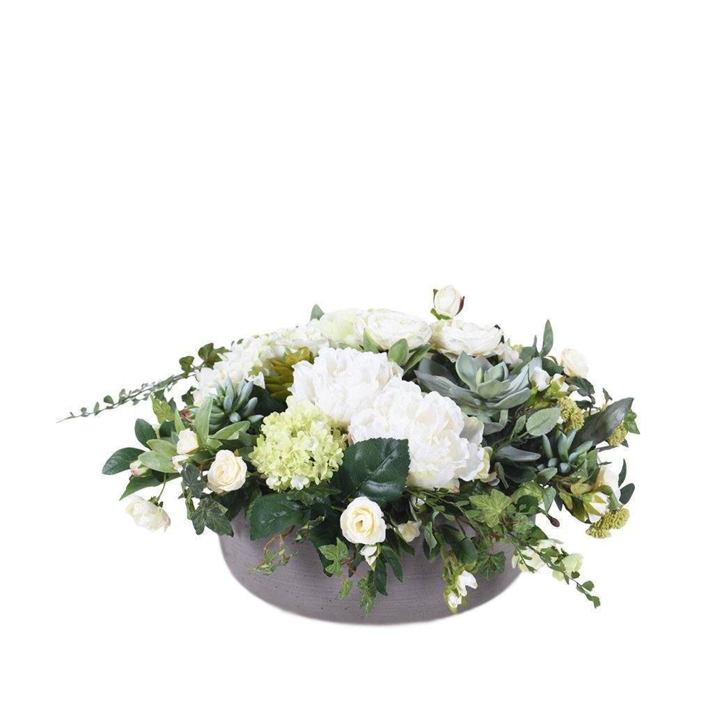 Bloomr Flowers Medium / Sandstone Bowl Modern Simplicity Arrangement artificial flowers artificial trees artificial plants faux florals