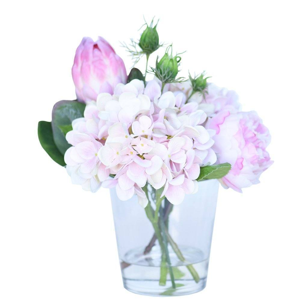 Bloomr Flowers Pink Hydrangea & Peony Arrangement artificial flowers artificial trees artificial plants faux florals