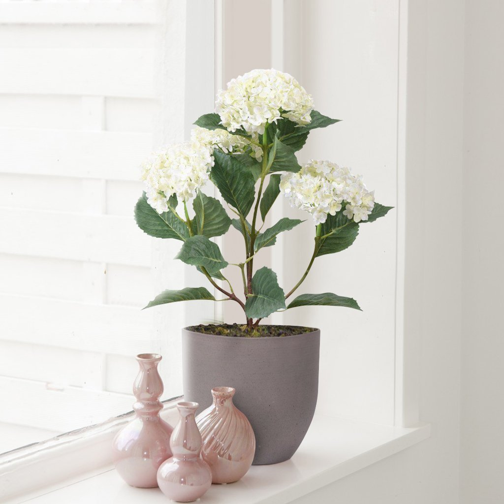 Bloomr Flowers Potted Hydrangea artificial flowers artificial trees artificial plants faux florals