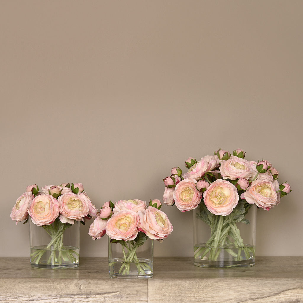 Bloomr Flowers Ranunculus Arrangement in Glass Vase artificial flowers artificial trees artificial plants faux florals