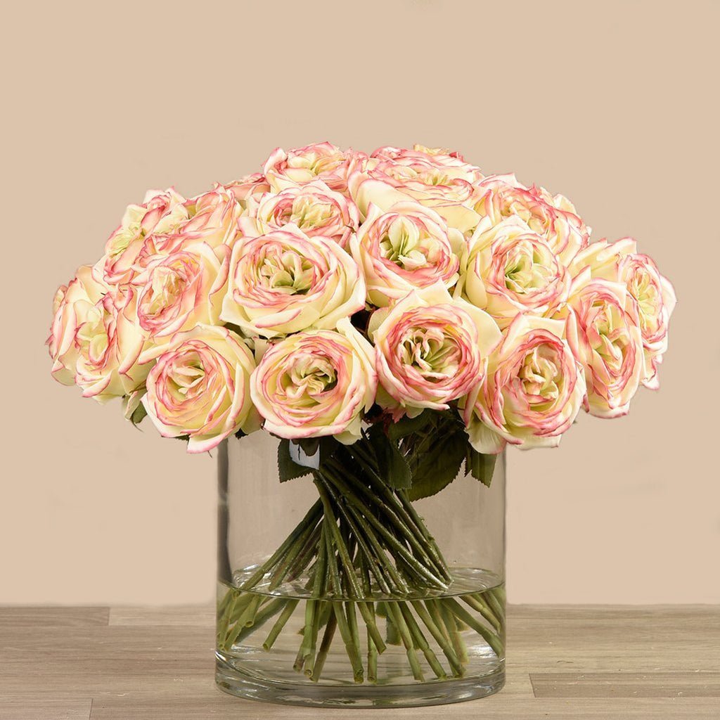 Bloomr Flowers Rose Arrangement in Glass Vase artificial flowers artificial trees artificial plants faux florals
