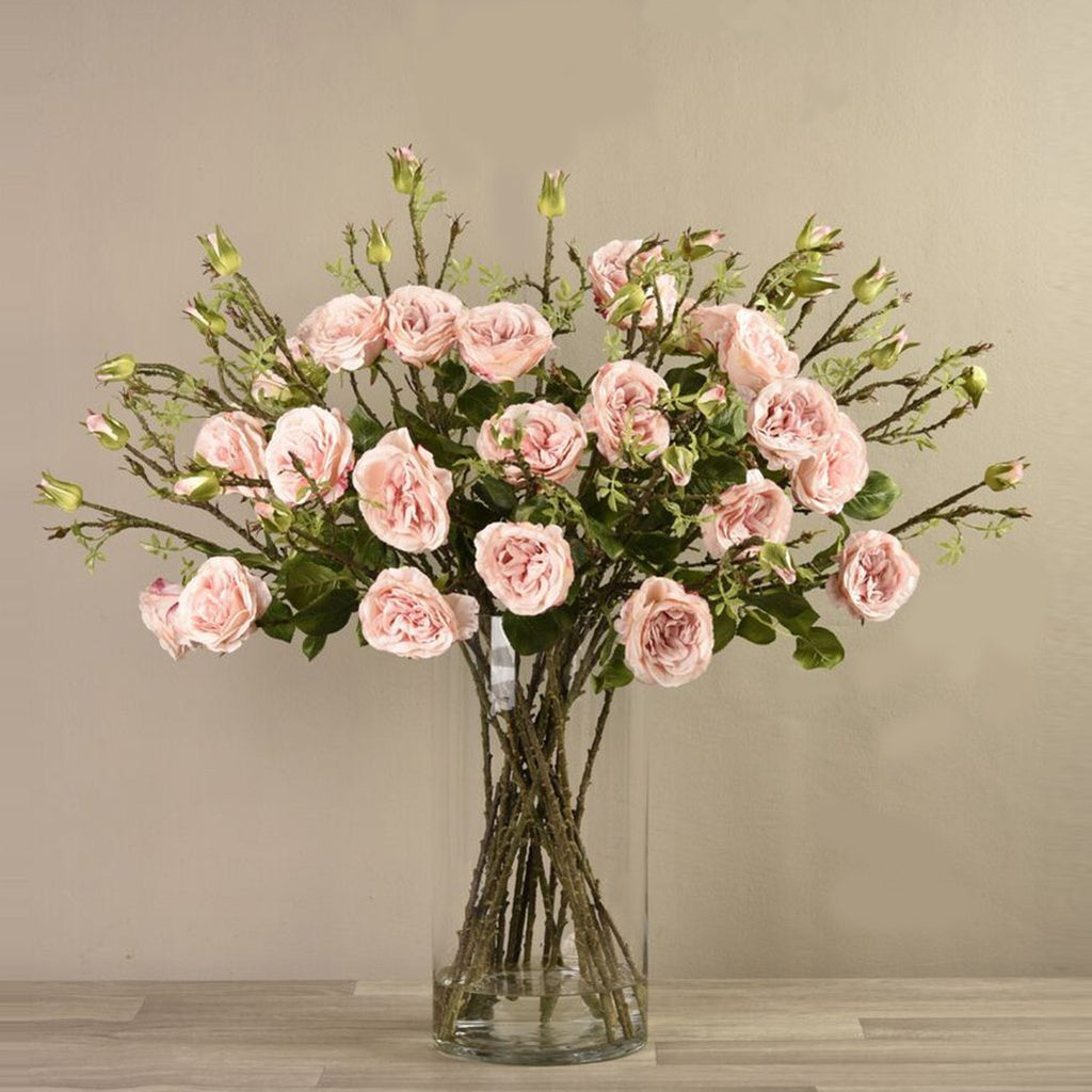 Artificial Rose in Vase, Faux Rose in Vase, Fake Rose in Vase  - Bloomr