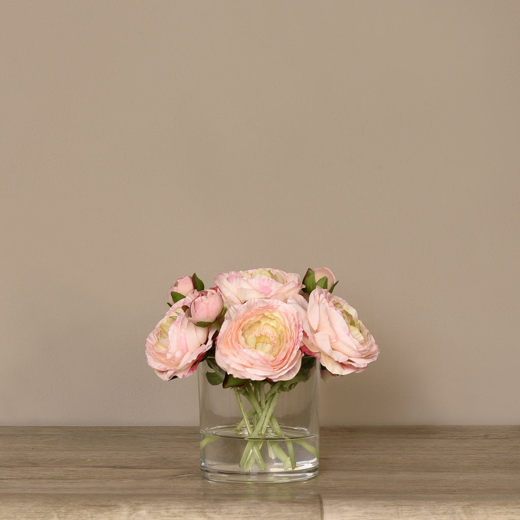 Bloomr Flowers Small Ranunculus Arrangement in Glass Vase artificial flowers artificial trees artificial plants faux florals