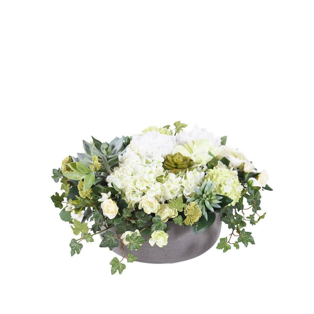 Bloomr Flowers Small / Sandstone Bowl Modern Simplicity Arrangement artificial flowers artificial trees artificial plants faux florals