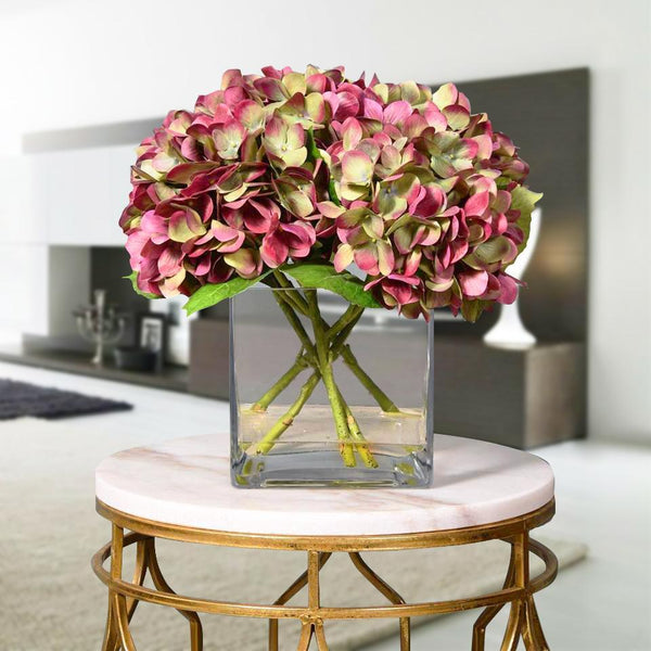 Bloomr Flowers Small / White Hydrangea Arrangement artificial flowers artificial trees artificial plants faux florals