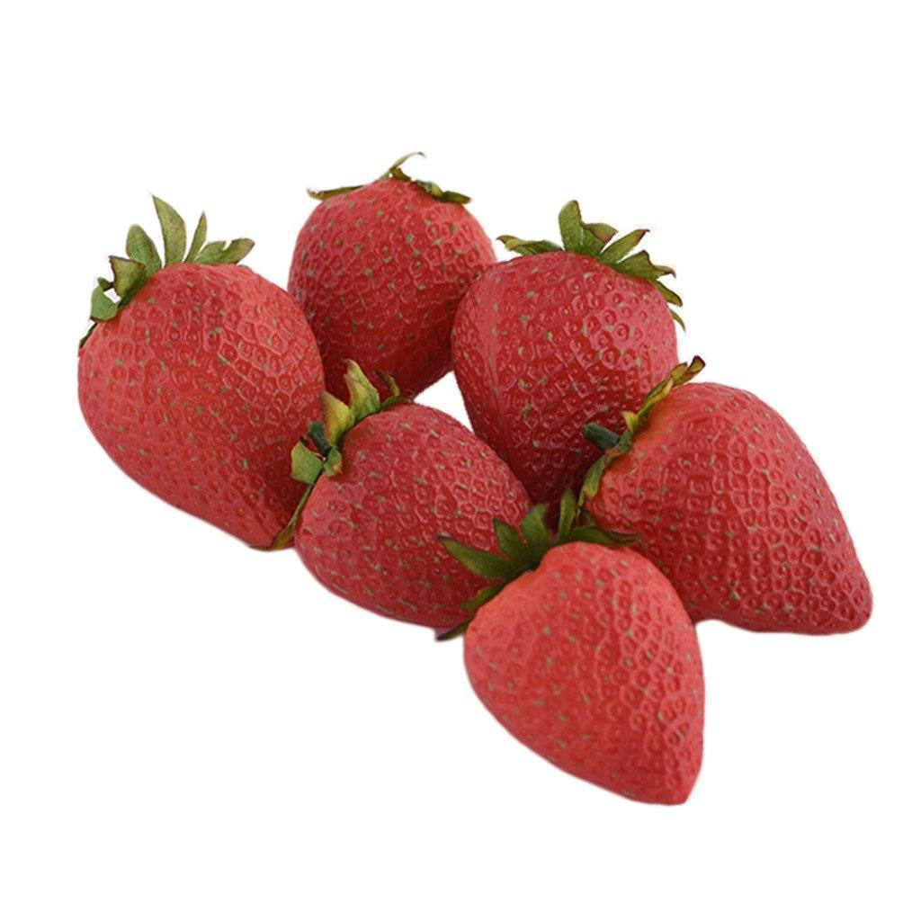 Bloomr Fruits, Vegetables, Cakes & Bread Strawberry artificial flowers artificial trees artificial plants faux florals