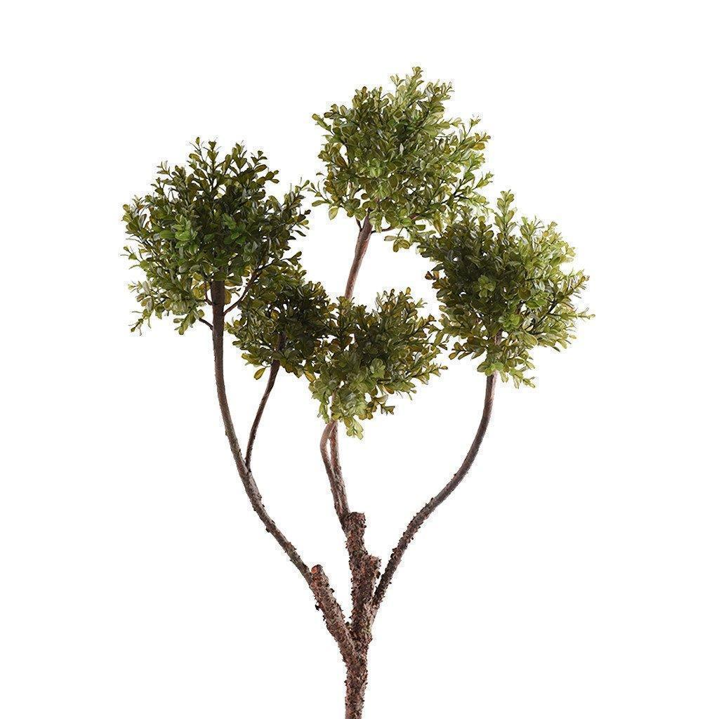 Artificial Boxwood Branch, Faux Boxwood Branch, Fake Boxwood Branch  - Bloomr