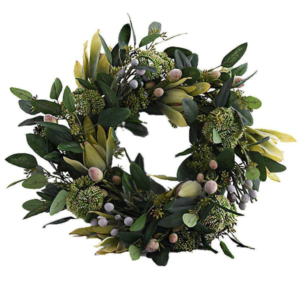 Bloomr Greenery Large Leucadendron Wreath artificial flowers artificial trees artificial plants faux florals