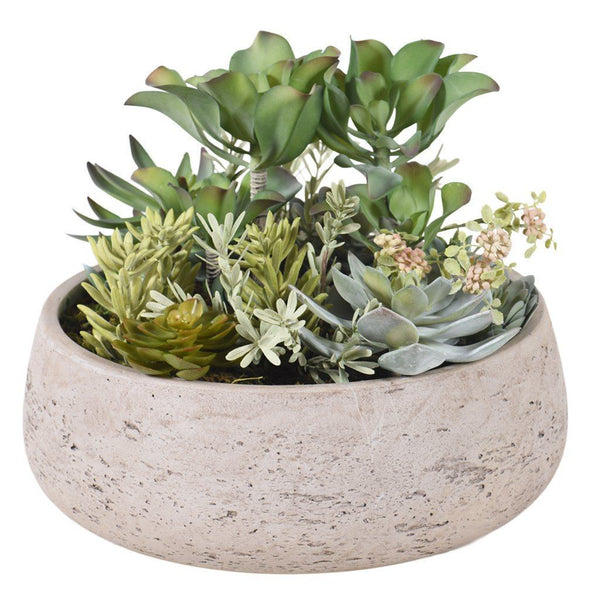 Bloomr Greenery Large Modern Succulent Arrangement artificial flowers artificial trees artificial plants faux florals