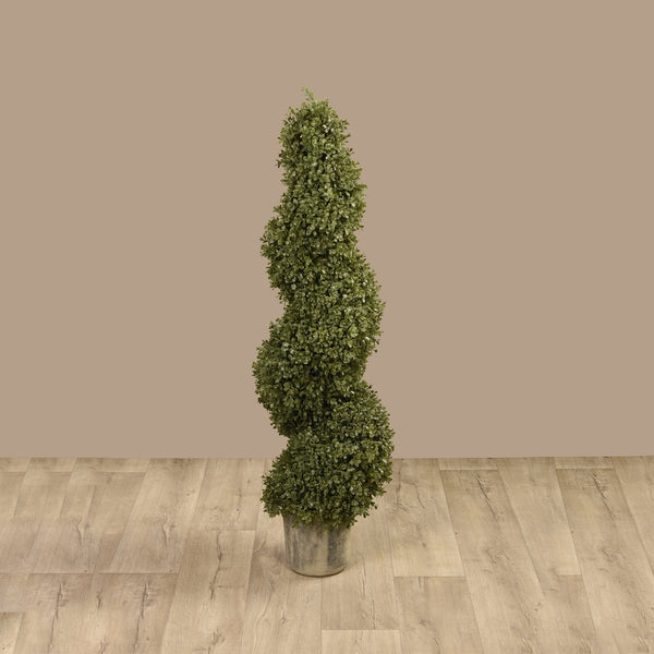 Bloomr Greenery Medium Potted Spiral Boxwood artificial flowers artificial trees artificial plants faux florals