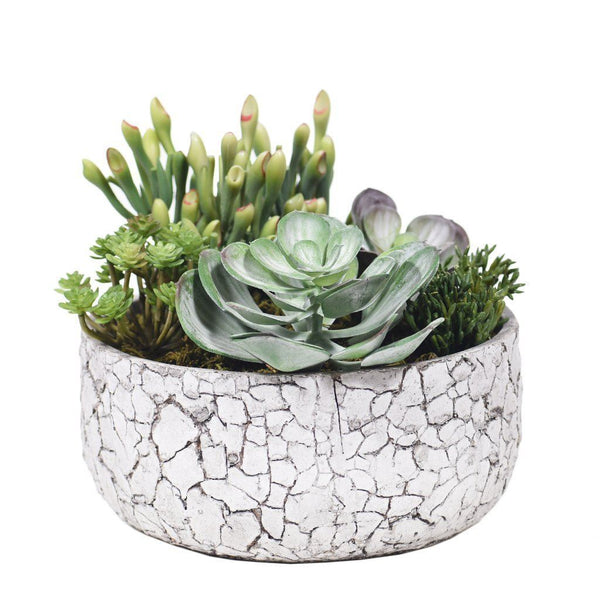 Bloomr Greenery Medium Rustic Succulent Arrangement artificial flowers artificial trees artificial plants faux florals