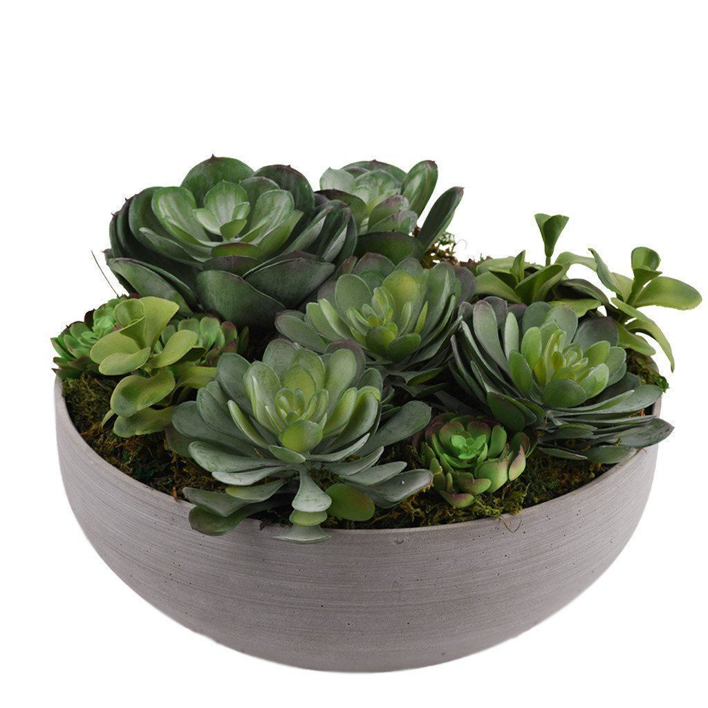 Bloomr Greenery Small Green Succulent Arrangement artificial flowers artificial trees artificial plants faux florals