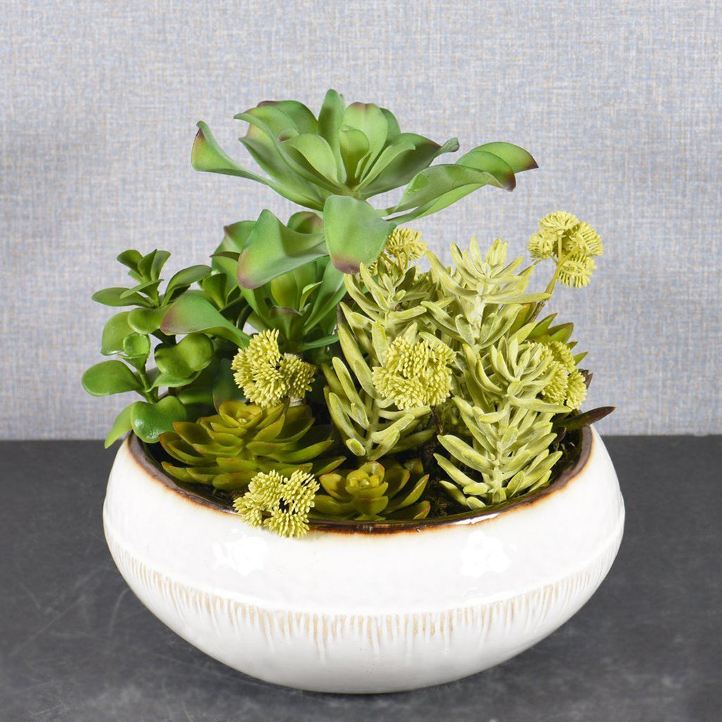 Bloomr Greenery Small Greenhouse Succulent Arrangement artificial flowers artificial trees artificial plants faux florals