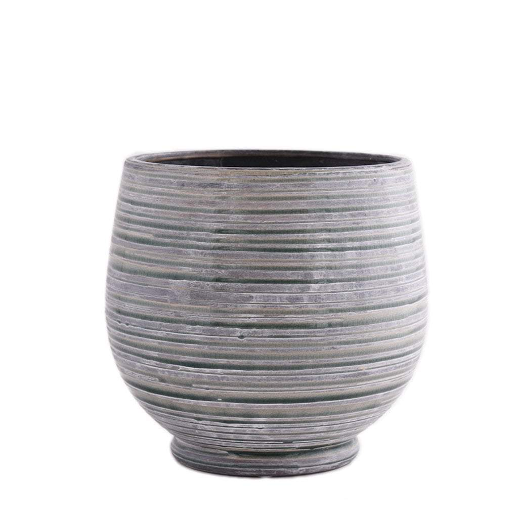 Artificial Round Ceramic Pot, Faux Round Ceramic Pot, Fake Round Ceramic Pot  - Bloomr