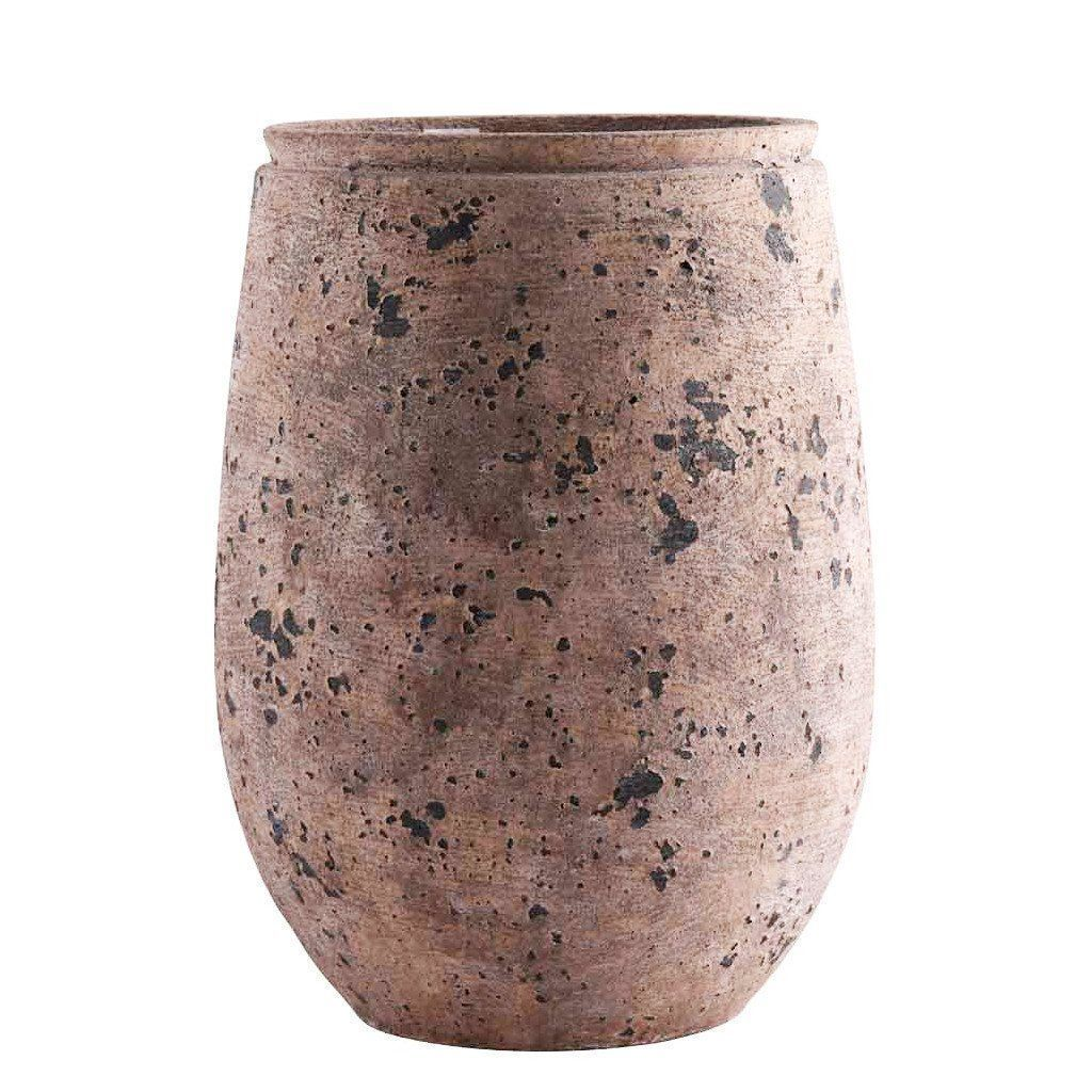Artificial Round Cement Pot, Faux Round Cement Pot, Fake Round Cement Pot  - Bloomr