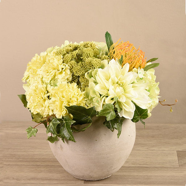 Artificial Artificial Flower Arrangement in Concrete, Faux Artificial Flower Arrangement in Concrete, Fake Artificial Flower Arrangement in Concrete  - Bloomr