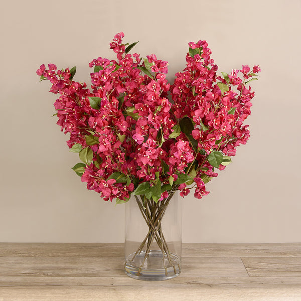 Bloomr-USA Flowers Bougainvillea in Glass Vase artificial flowers artificial trees artificial plants faux florals