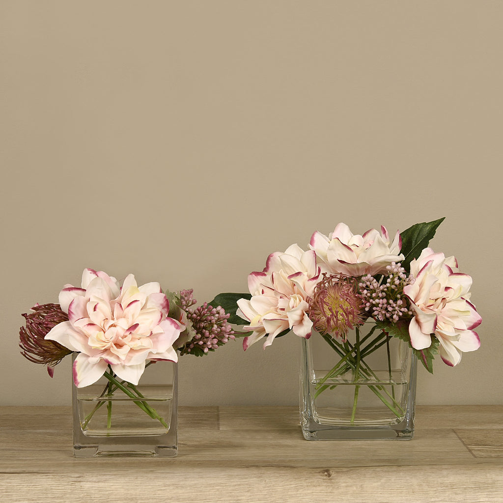 Bloomr-USA Flowers Dahlia & Protea Arrangement artificial flowers artificial trees artificial plants faux florals