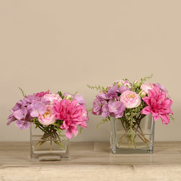 Bloomr-USA Flowers Dahlia & Ranunculus Arrangement artificial flowers artificial trees artificial plants faux florals