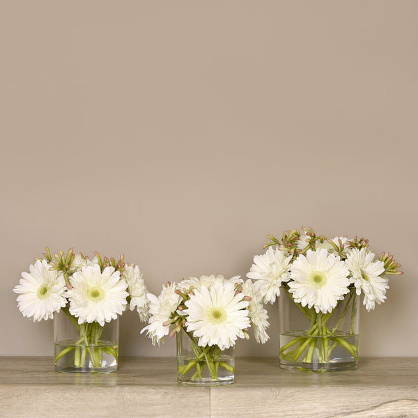 Bloomr-USA Flowers Gerbera Arrangement in Glass Vase artificial flowers artificial trees artificial plants faux florals