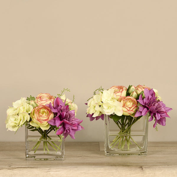 Bloomr-USA Flowers Hydrangea & Dahlia Arrangement artificial flowers artificial trees artificial plants faux florals