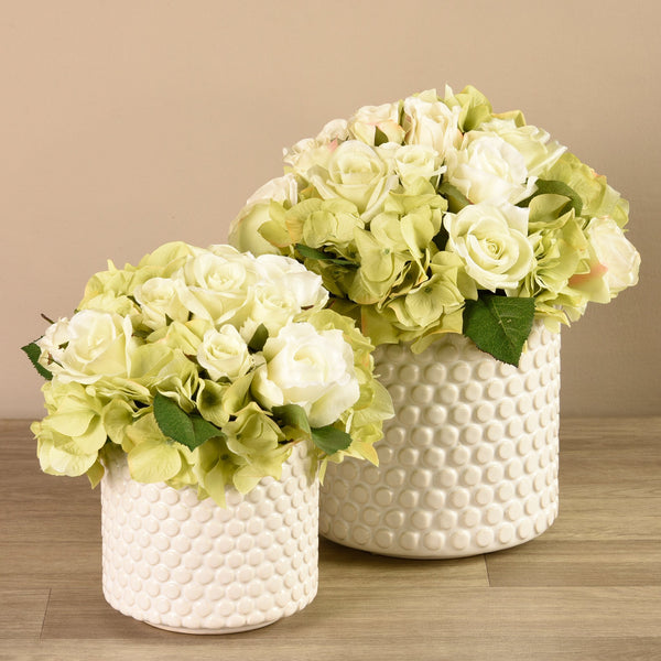 Bloomr-USA Flowers Hydrangea & Rose Arrangement artificial flowers artificial trees artificial plants faux florals
