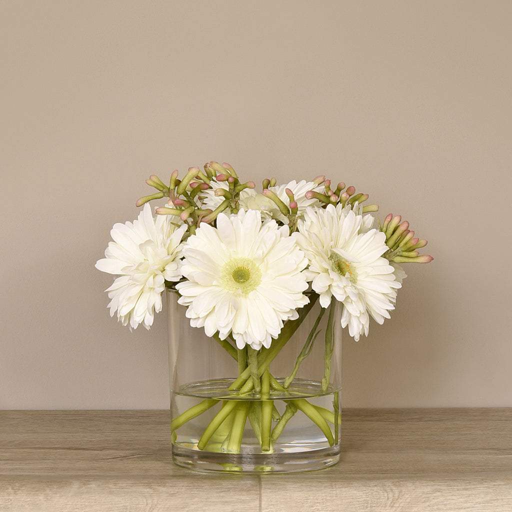 Bloomr-USA Flowers Large Gerbera Arrangement in Glass Vase artificial flowers artificial trees artificial plants faux florals