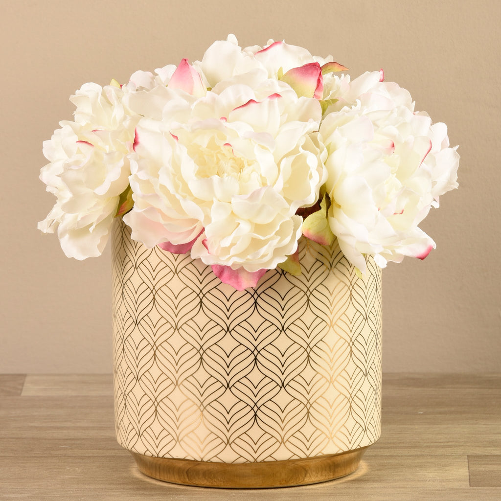 Bloomr-USA Flowers Large Peony Arrangement artificial flowers artificial trees artificial plants faux florals