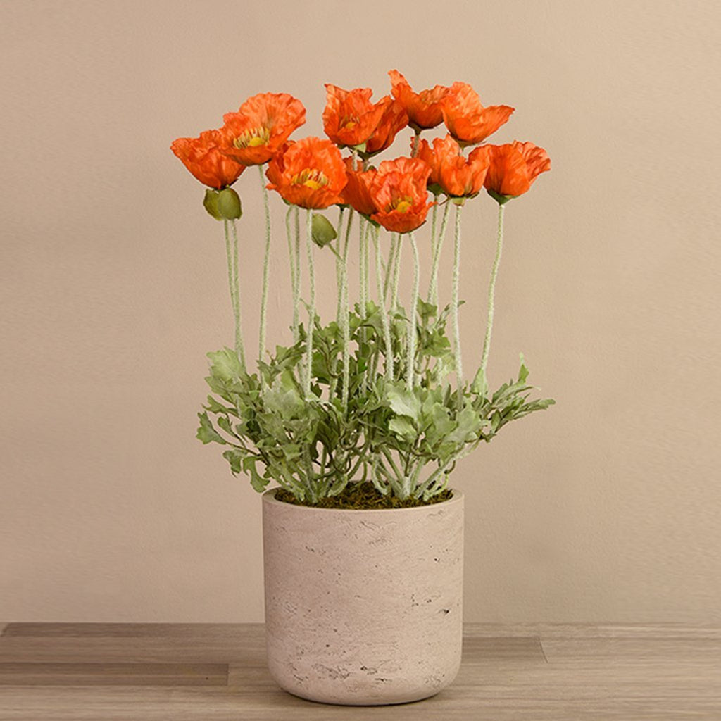 bloomr-usa Flowers Large Poppy Potted artificial flowers artificial trees artificial plants faux florals