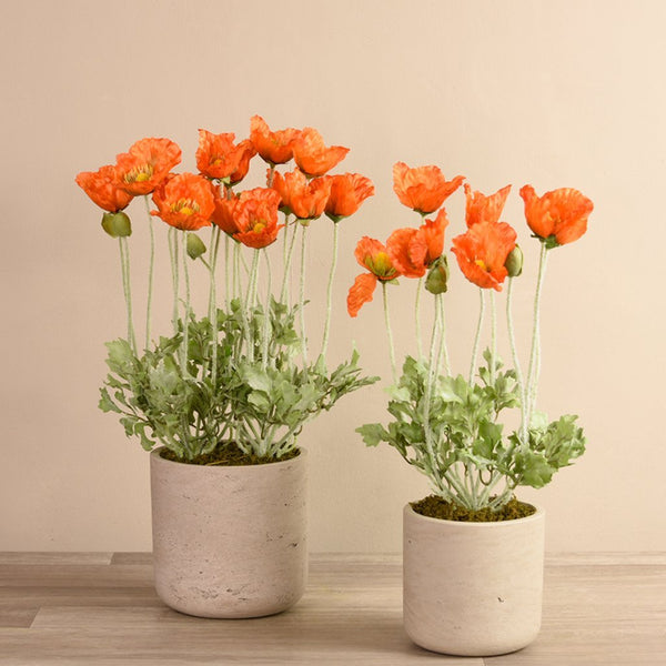 bloomr-usa Flowers Medium Poppy Potted artificial flowers artificial trees artificial plants faux florals