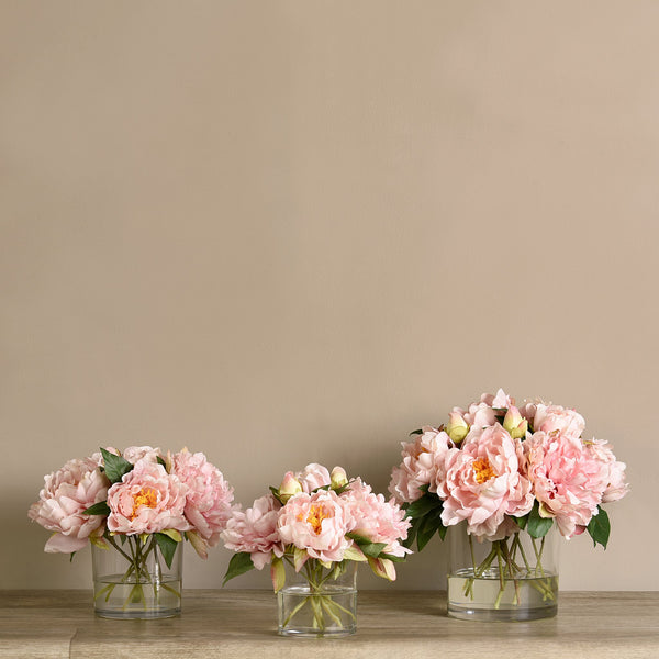 Bloomr-USA Flowers Peony Arrangement in Glass Vase artificial flowers artificial trees artificial plants faux florals