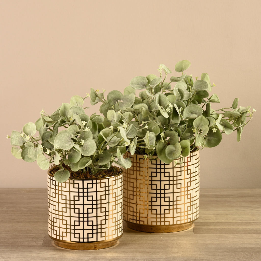 Bloomr-USA Flowers Potted Silver Fall artificial flowers artificial trees artificial plants faux florals