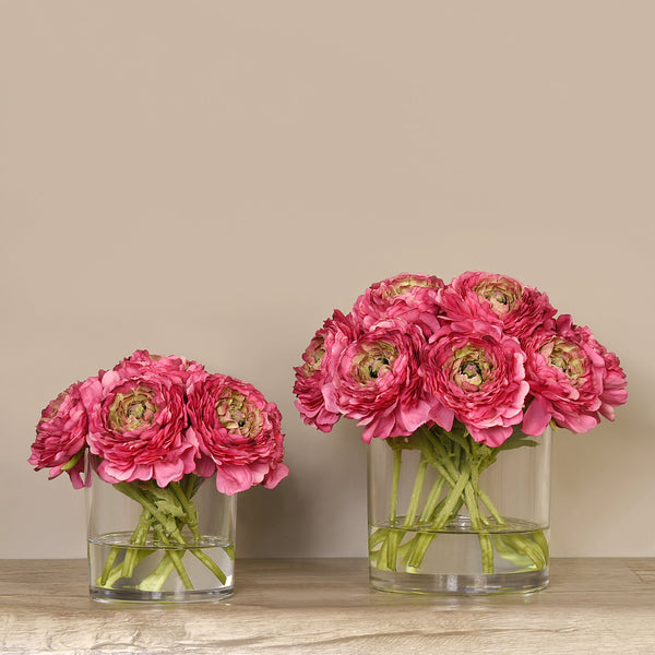 Bloomr-USA Flowers Ranunculus Arrangement in Glass Vase artificial flowers artificial trees artificial plants faux florals