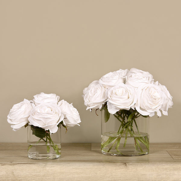 Bloomr-USA Flowers Rose Arrangement in Glass Vase artificial flowers artificial trees artificial plants faux florals