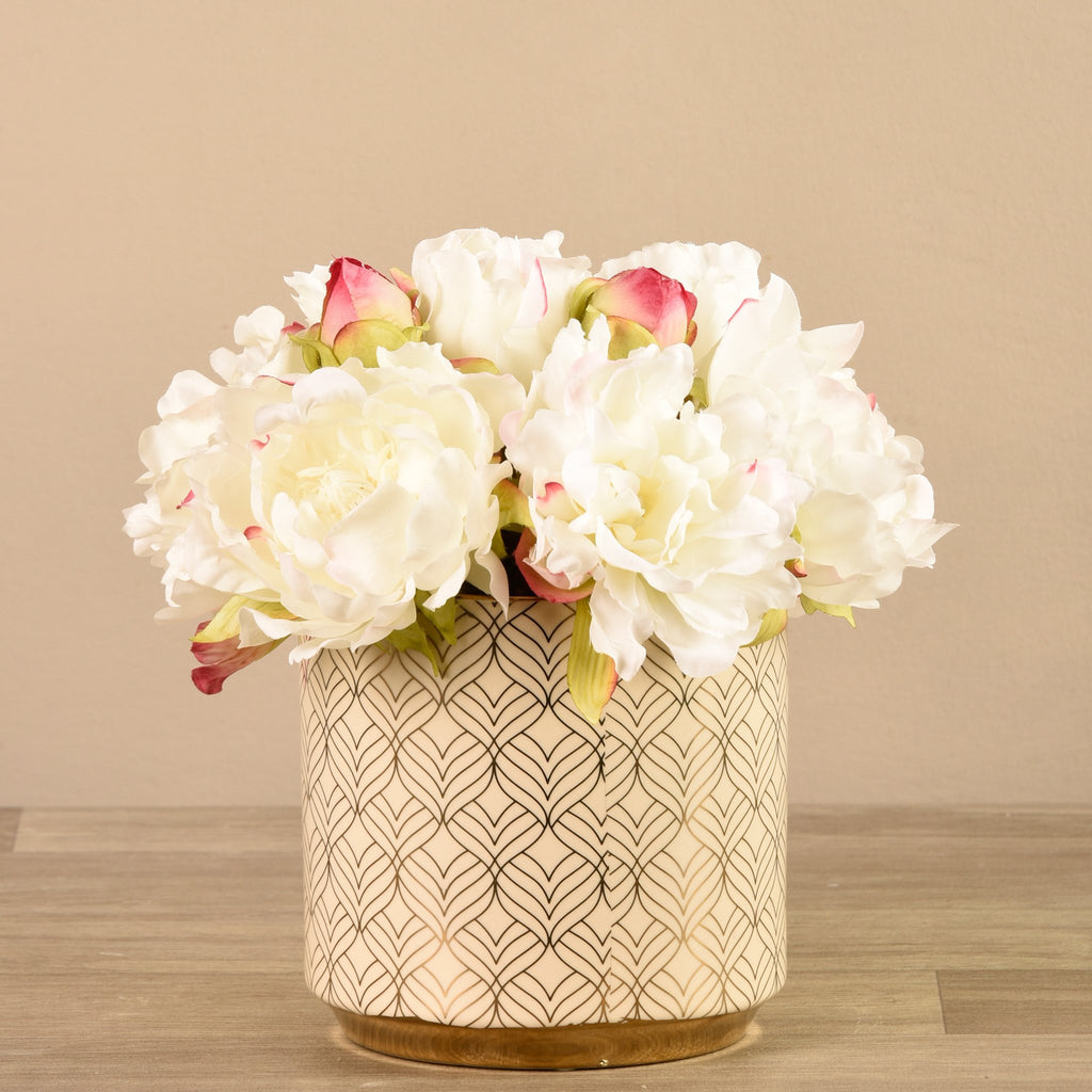 Bloomr-USA Flowers Small Peony Arrangement artificial flowers artificial trees artificial plants faux florals