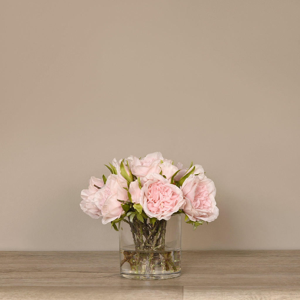 Bloomr-USA Flowers Small Rose Arrangement in Glass Vase artificial flowers artificial trees artificial plants faux florals