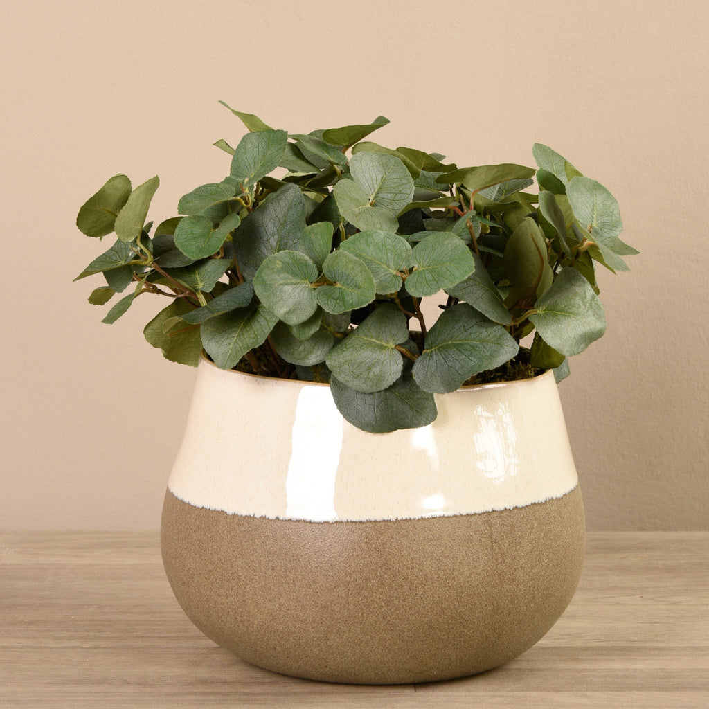 Bloomr-USA Greenery Large Eucalyptus Arrangement in Ceramic Vase artificial flowers artificial trees artificial plants faux florals