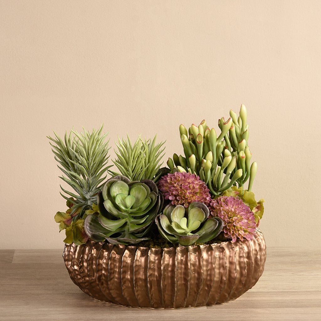bloomr-usa Greenery Large Royal Succulent Arrangement artificial flowers artificial trees artificial plants faux florals