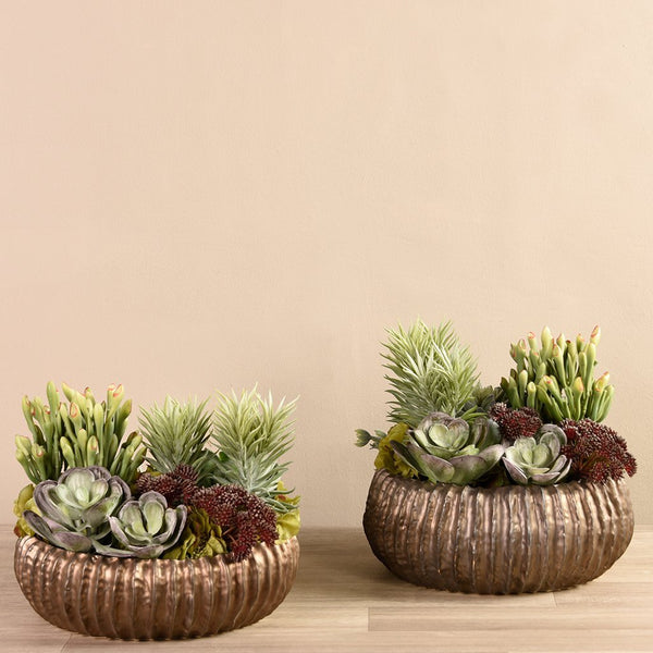 bloomr-usa Greenery Medium Royal Succulent Arrangement artificial flowers artificial trees artificial plants faux florals