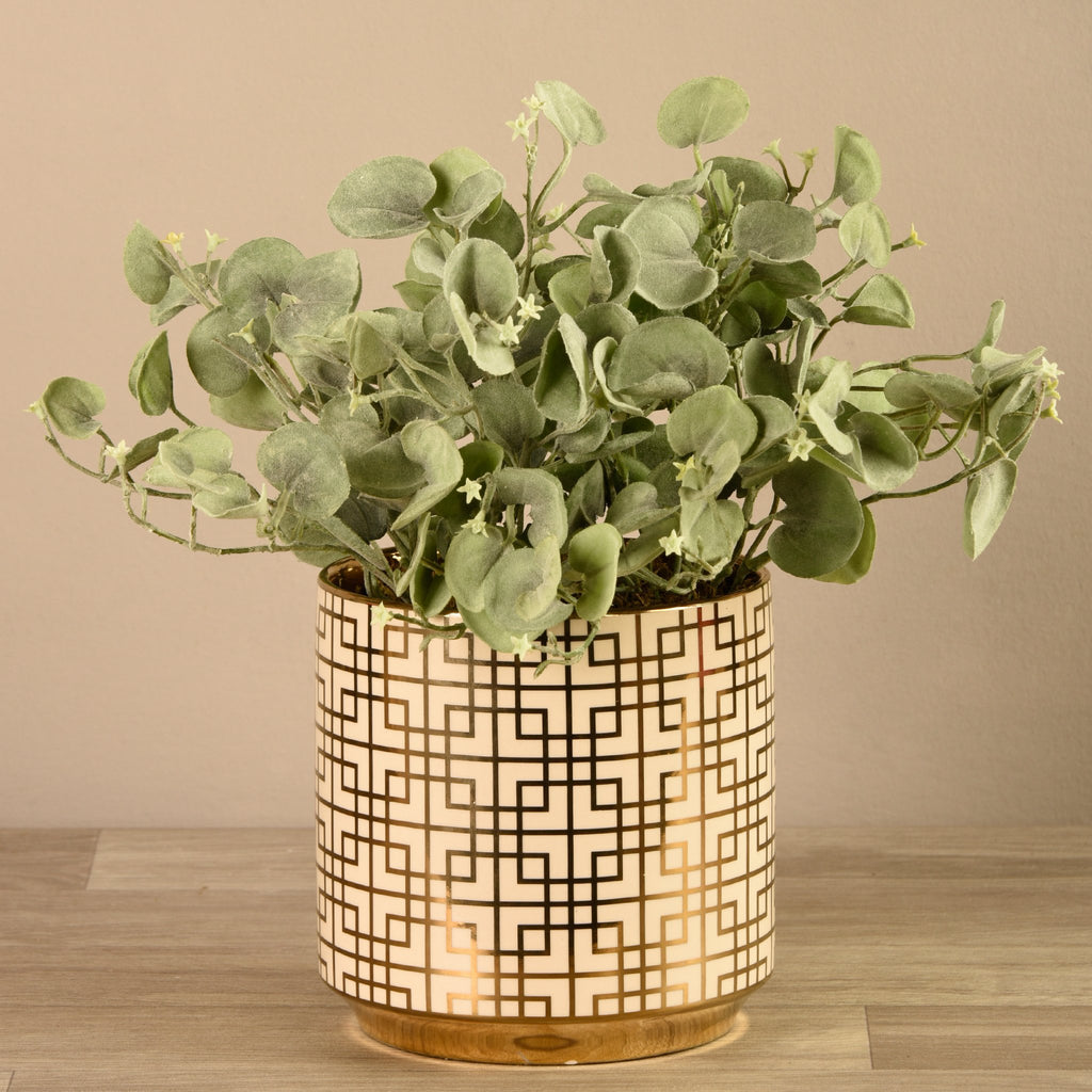 Bloomr-USA Greenery Potted Silver Fall artificial flowers artificial trees artificial plants faux florals