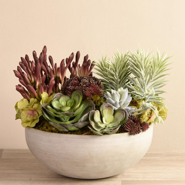 Artificial Rio Succulent Arrangement, Faux Rio Succulent Arrangement, Fake Rio Succulent Arrangement  - Bloomr