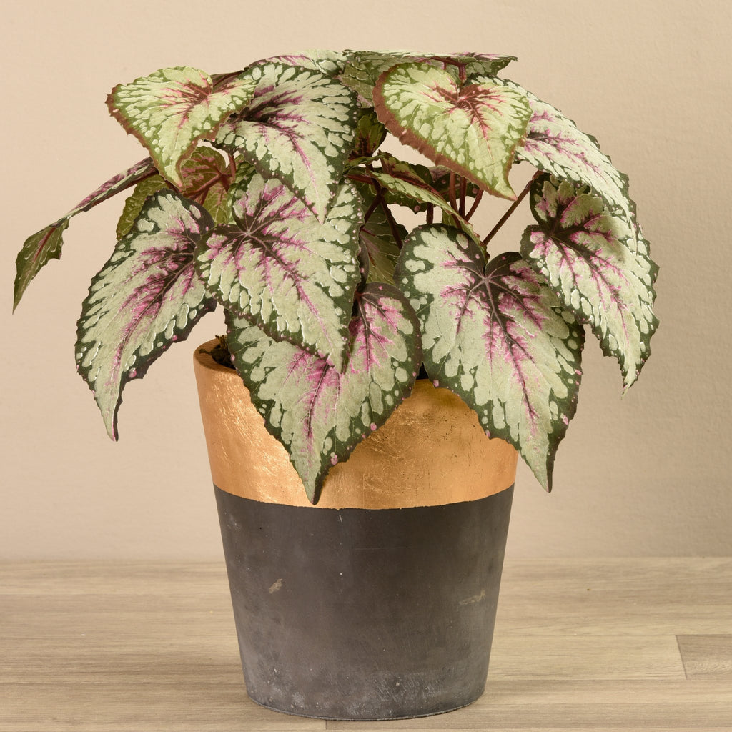Bloomr-USA Plants Large Potted Begonia artificial flowers artificial trees artificial plants faux florals
