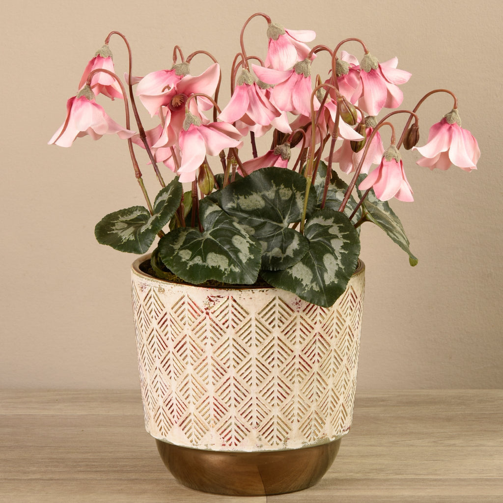 Bloomr-USA Plants Medium Potted Cyclamen artificial flowers artificial trees artificial plants faux florals