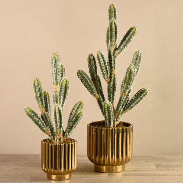 Bloomr-USA Plants Potted Cactus artificial flowers artificial trees artificial plants faux florals